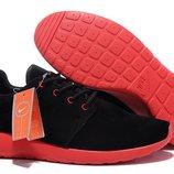 Кроссовки Nike Roshe Run II - черные красный