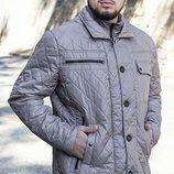 Демисезонная куртка, цвета беж, синий, размеры 52-62
