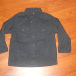 черная рубашка кампус на рост 98