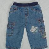 Джинсы, брюки для мальчика на 6-9 месяцев. Р. 74.