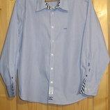 Очень красивая голубая рубашка в мелкую полоску McGregor rowing club