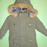 Демисезонная куртка-парка на мальчика 3-6 мес.