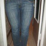 Женские стильные длинные джинсы На высокую, длинноногую девушку М 46 Декор,змейки,клепки Cotton