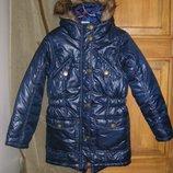 Аккуратненькая парка, осенне-зимняя курточка YIGGA, 134, 146-152, 158