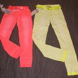 Коттоновые летние брюки для девочек 9-14 лет