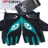 Giro Tessa Black Dynasty Green велосипедные перчатки женские / подростковые без пальцев