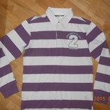 Суперская футболка-поло с длинным рукавом V.I.K. на 13-14 лет р. 152см.