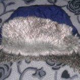 моднявая шапка-ушанка на 1-2 года в идеальном состоянии
