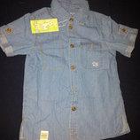 Суперская джинсовая рубашка Бемби р.122-134