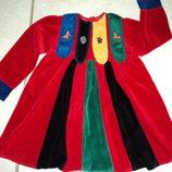 Платье велюровое 3-6 лет