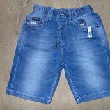 Шорты из тонкого джинса