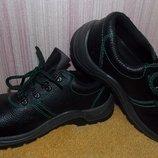 Черные ботинки-туфли на шнурках на мальчика -38 размер,24 см стелька.