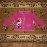 Кофта реглан Disney at George с минни маус на 2-3 рочки
