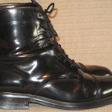 Черные кожаные лакированные ботинки Next. Англия. 43 р.