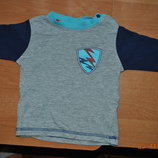 футболка длиннорукавка 62-68 р