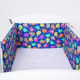 Набор защитных бортиков в детскую кроватку для малышей