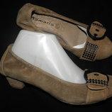 38-39-40 новые туфли замша Tamaris Germany