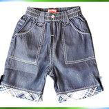 Джинсовые летние шорты для мальчиков Тм Bobbogi 80, 90, 100, 110, 120 см