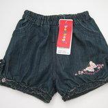 Джинсовые шорты Тм Bobbogi для девочек 80-134 см.