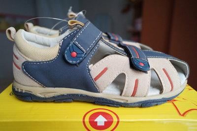 Босоножки для мальчика, бежево-синие, новые, 30,31,33,34 размер