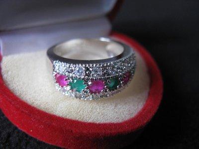 Великолепное кольцо с Изумрудами и Рубинами.