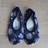 обувь для танцев, чешки балетки синие тканевые
