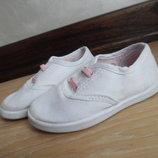 кроссовки кеди мокасины детские белые 13,5 см Young Dimension