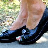 Шикарные Модельные Туфли На Танкетке С Красивым Дизайном