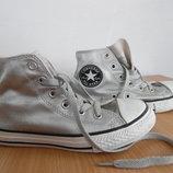 кроссовки кеди мокасины детские белые серые 21 см Converse оригинал