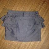 Стильная юбка серая с баской Atmosphere баска как Zara Mango Asos Bershka H&M Зара Асос Манго