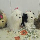 Собачка, щенок ,йоркширский терьер, песик, мягкая игрушка