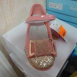 Розовые туфли на девочку 36 р. 21,5 см. туфлі, весна, осень, нарядные, праздник, свято, утренник