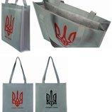 для покупок патриотам Сумка Эко рюкзак холщевый тризуб слава Украине
