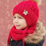 Шапка Принцесса с искусств.енотом. Зима. р. 48-52 и 52-56 Закза от 1 ед каждый пн и чт