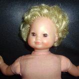 Винтажная шикарная кукла клеймо черепашка в ромбе Шильдкрет Schildkrot оригинал 32 см