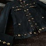 куртка жакет лайка изумруд заклепки премиум бренд Apart