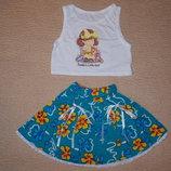 Новые стильные летние комплекты для девочек на рост 98 - 104см