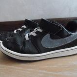 кроссовки кеди мокасины детские белые серые черные кожа 20 см Nike Найк оригинал