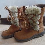 сапоги ботинки ДЕМИСЕЗОН детские 17,2 Bobbi Shoes СМ КОРИЧНИВЫЕ бежевые высокие