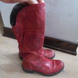 сапоги ботинки ДЕМИСЕЗОН детские кожаные 19 СМ высокие оригинал RZZ