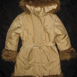 красивое зимнее пальто Zet Польша , на 6-7 лет, девочке
