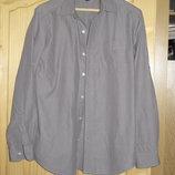 Серая рубашка в мелкую полоску . GAP. США S