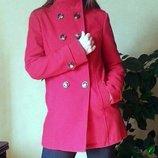 красное пальто Jennyfer