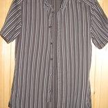 Серая рубашка с коротким рукавом Esprit Германия. 44 р.