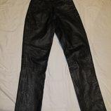 Толстые черные кожаные джинсы Cowhide Пакистан.S