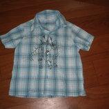 Легенькая рубашка на лето на рост 98-104