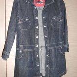 Джинсовое пальто - куртка рост 104 большемерит
