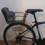 Детское велосипедное сиденье на богажник корзина