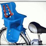 Велокресло для перевозки детей. Сиденье велосипедное на багажник