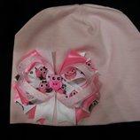 Стильная шапочка шапка для Вашей принцессы, от 2 до 6 лет